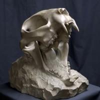 kupit_skulpturu_Cherep_mramorovidnyj_izvestnyak_2016_skulptor_Vasilij_Korchevoj_40_sm_Kiev_foto_2