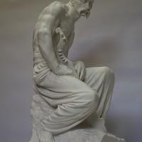 Скульптура Козак скульптор Василий Корчевой 2016 мрамор
